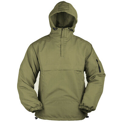 Tactical Combat Mens Anorak Hooded Windproof Lightweight Summer Jacket Coyote