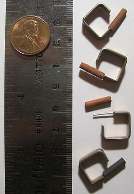 VINTAGE COPPER PLATED - 13mm - Open Square Earring Earrings - 4 Pieces / 2 Pairs