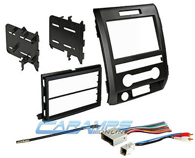 09-12 F-150 Double Din Car Stereo Dash Install Trim Kit Bezel W/ Wiring Harness