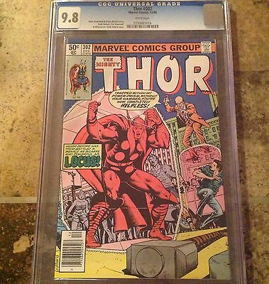 The Mighty Thor #302 Marvel 1980 CGC 9.8 White Pages