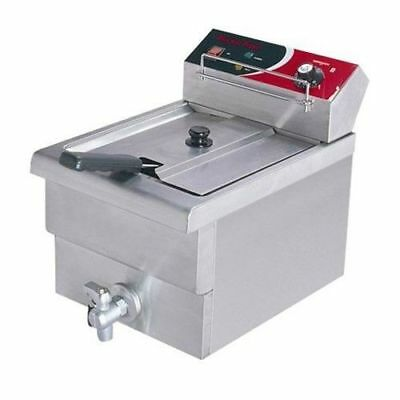 Benchtop Deep Fryer, Single Vat 7.5L 15AMP, Cold Zone, Commercial Grade NEW