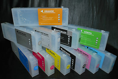 Refillable Cartridges 700ml for Epson Stylus Pro 7900 9900 11Colors US Fast Ship