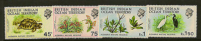 BRITISH INDIAN OCEAN TERRITORY :1971 Nature Reserve SG 36-9 unmounted mint