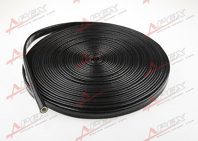 "3/8"" Inch Silicone Jacketed Thermal Heat Sleeving Protector Black Wire"