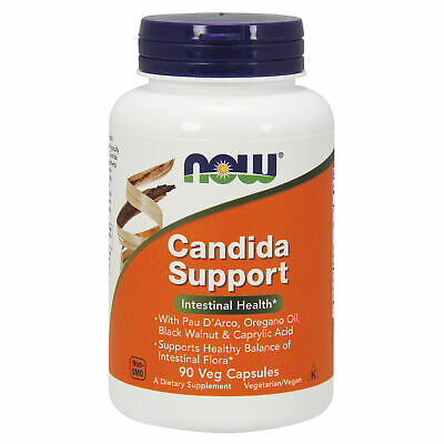 NOW Foods Candida Support 90 Vcaps | Olive Leaf Garlic Cat's Claw Wormwood