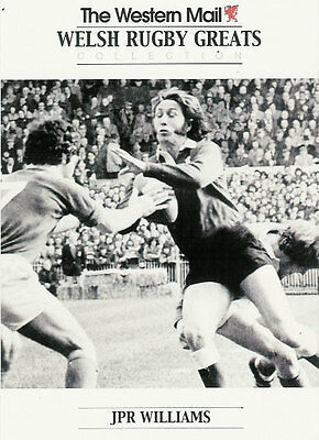"""JPR Williams, Wales WESTERN MAIL """"Welsh Rugby Greats Collection"""" Rugby Card"""