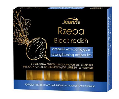 JOANNA HAIR CARE AMPOULES BLACK TURNIP AGAINST HAIR LOSS CONDITIONER 4x10ml