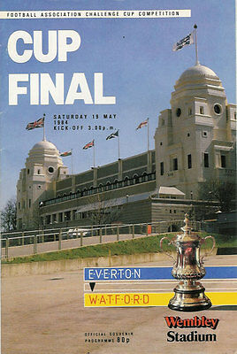 EVERTON v WATFORD 1984 FA CUP FINAL FOOTBALL PROGRAMME