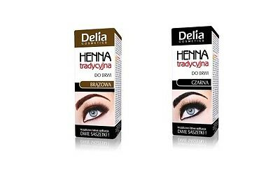 Delia Henna Cream For Eyebrows  Black Brown