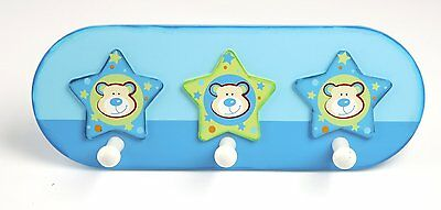 Tidlo Trio of Stars Wooden Children's Coat Pegs / Hooks. Child's bedroom Decor