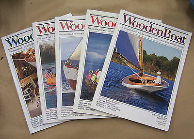 Pack Of 5 Wooden Boat Magazines!!! Collectible!