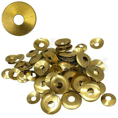 Brass Domed Clock Washers, Round hole 100 washer mix Clockmaker Movement Repair