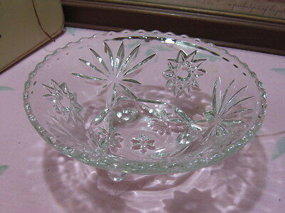 "Vintage EAPC Star Of David 3 Toed 6 3/4"" Bon Bon Bowl Anchor Hocking 1960s"