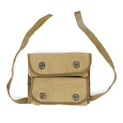 U.S. WWII Double Grenade Canvas Pouch, Marked US,  WW2 Dated- Reproduction