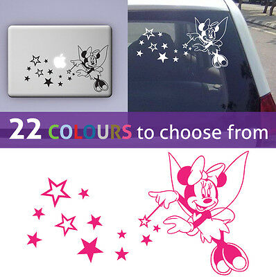 MINNIE MOUSE tinkerbell fairy wall sticker art decal girls nursery laptop car