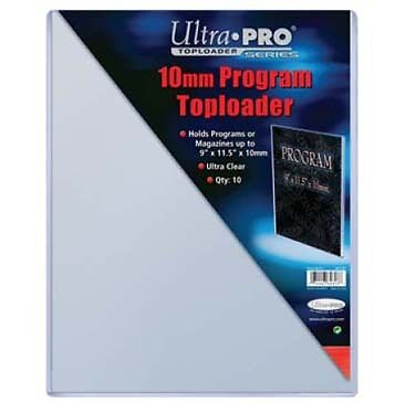 NIP Ultra Pro Pack of 10 Toploaders 9x11.5 Perfect for Program Signed Thick 10mm