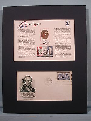 LaFayette - hero of the American & French Revolution & SC125 & First Day Cover