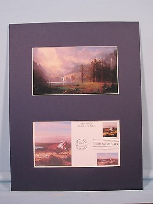 """Mount Whitney"" painted by Albert Bierstadt & First Day Cover"