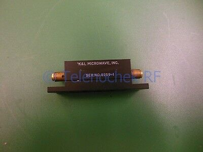 RF IF microwave bandpass filter 14.9875 GHz   475 MHz BW data