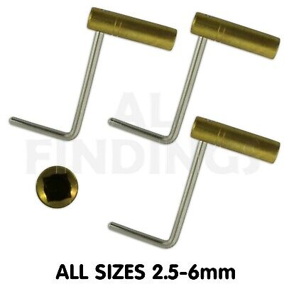 2.50mm-6mm Vienna Brass Crank key for Grandfather Longcase Clock winding tool