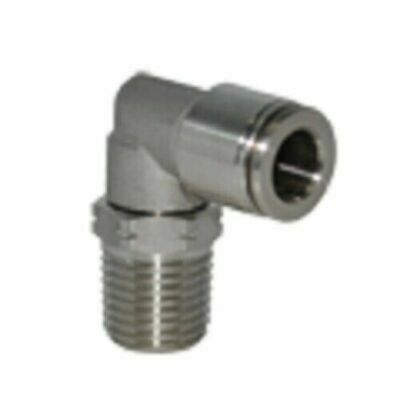 5/32 OD x 1/8 NPT Stainless Steel Push To Connect Tube Fitting Male Swivel Elbow