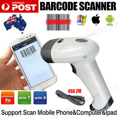 Cable USB Port Laser Barcode Scanner Reader Decoder for POS Computer Phone Pad