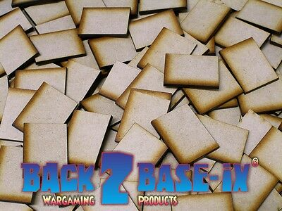 MDF Square 3mm Rectangle Wooden Miniature Wargaming Base Laser Cut