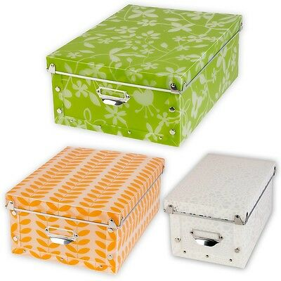 Spizy Plastic Collapsible Patterned Storage Boxes Containers With Lid Bits Bobs