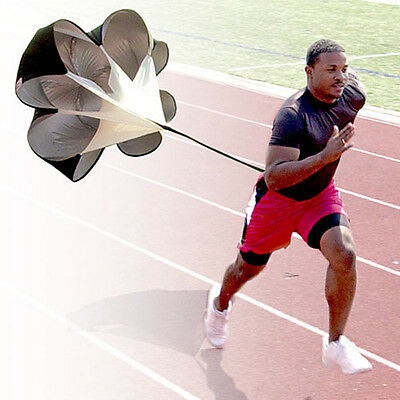 "56""Speed Drills Resistance Parachute Running Chute Soccer Football Training"