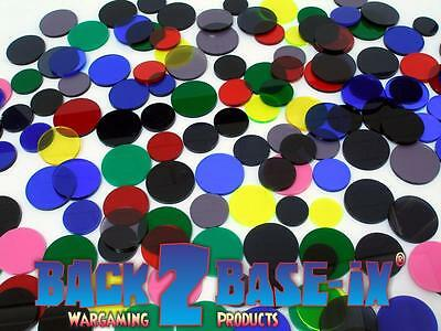 Acrylic Disk Circles Various Diameter 3mm Thick Assorted Colours 100 grams