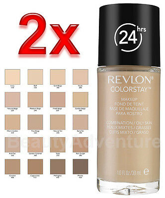 2x Revlon Colorstay Makeup Foundation 24hrs ** Choose Your Shade **