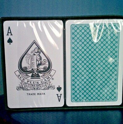 *Ace Plus Game* 100% Plastic Playing Cards (2 Decks)