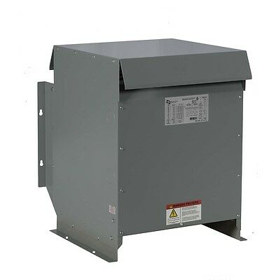 15kVA Dry Type Transformer, 480 - 208Y/120 Volt Step Down, 3 Phase - New,  3R