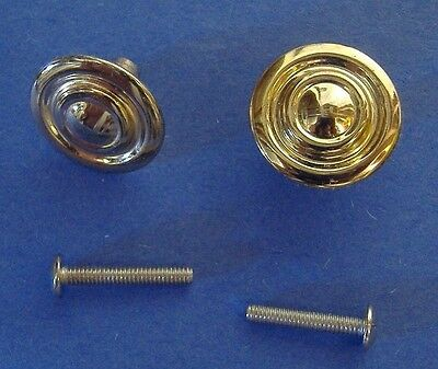 Lot Of Ten Bright Brass Finish Cabinet Knobs