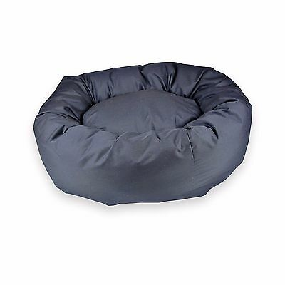STANDARD - DONUT DOG BEDS. Black Male Bed. Extra Large, Large, Medium, Small Bed