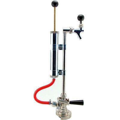Deluxe German Beer Keg Pump - Party Tap for Draft Beer - A-System Slider Coupler