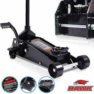 3 TON 3000kg HAWK QUICK LIFT STEEL HYDRAULIC WORKSHOP SPORT FLOOR TROLLEY JACK