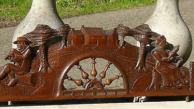 Antique 19C French Oak Wood Hand Carved Panel Furniture,Architectural Element #3