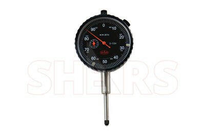 "Shars 1"" Precision Dial Indicator .001"" Agd 2 Graduation Lug Back Black Face New"