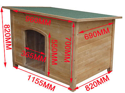 X-Large Wooden Dog House Timber Log Cabin Dog Kennel Wood House