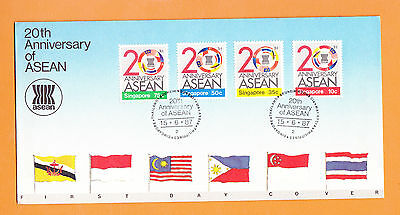 Singapore 1987 20th Anniversary of ASEAN, FDC