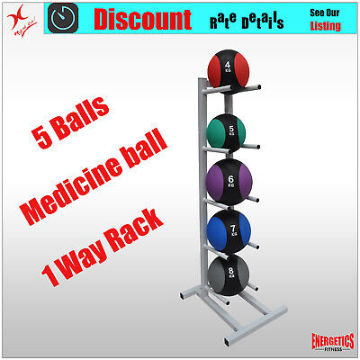 Medicine Ball Rack - One Side Medicine Ball Stand Store Up To 5 Balls