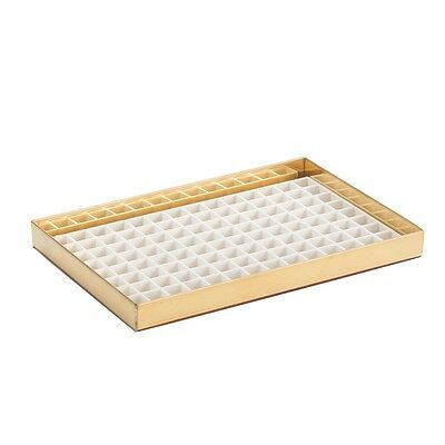"8 1/8"" Countertop Drip Tray - Brass Finish with Drain - Draft Beer Spill Catcher"