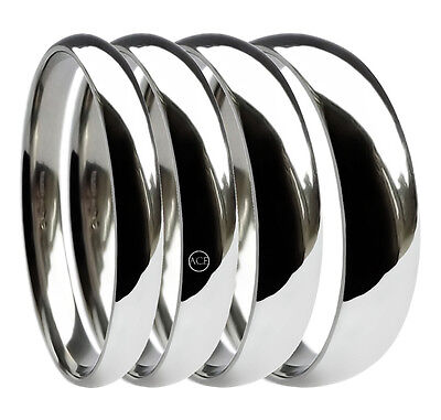 9ct White Gold Wedding Rings Court Comfort Bands 375 UK Fully Hallmarked Solid