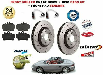 For Porsche Boxster 2.5 1996-1999 Front Drilled Brake Disc Set + Pad Kit+ Sensor