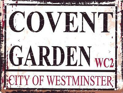 Covent Garden Metal Sign Retro Vintage Style Small