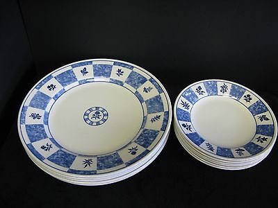 11 Piece Churchill Blue And White Dinnerware