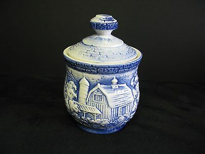 Blue And White Sugar Bowl Made In Japan