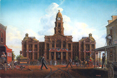 Fort Worth Texas Courthouse Law Legal Judge Lawyer Cowtown Art SIGNED by Souders