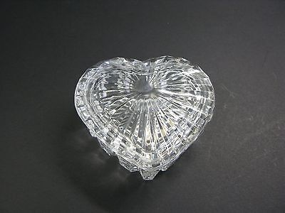 Crystal Heart Shaped Lidded Trinket Dish